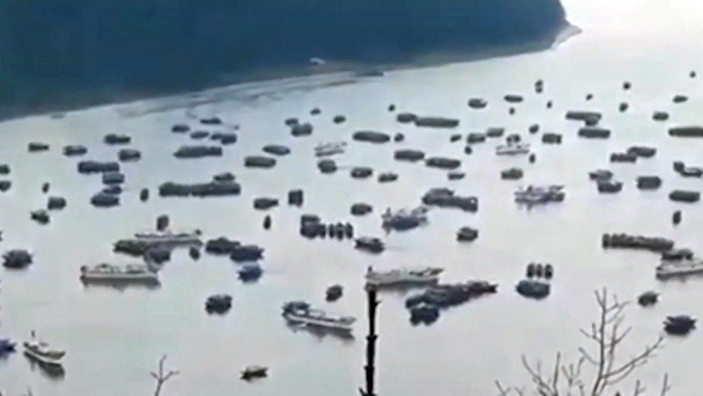 Лодки северокорейских рыбаков