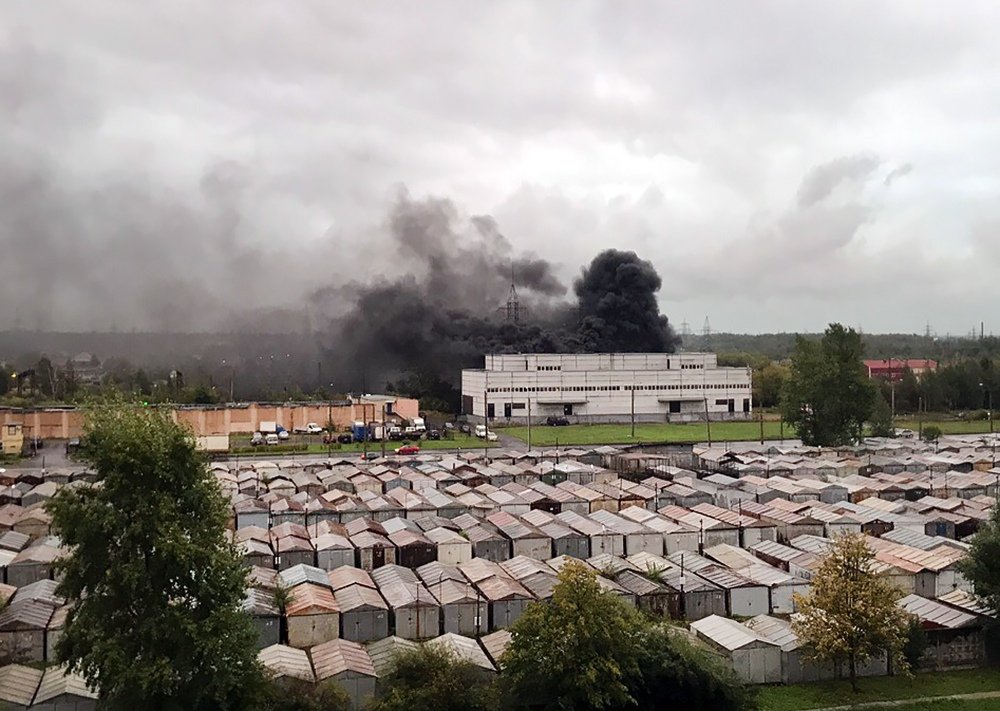 Пожар на электроподстанции