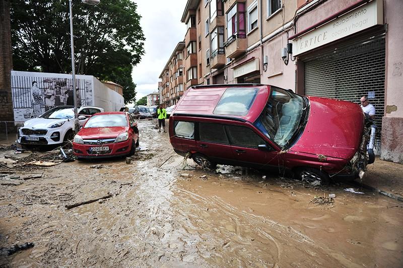Последствия наводнения в Испании