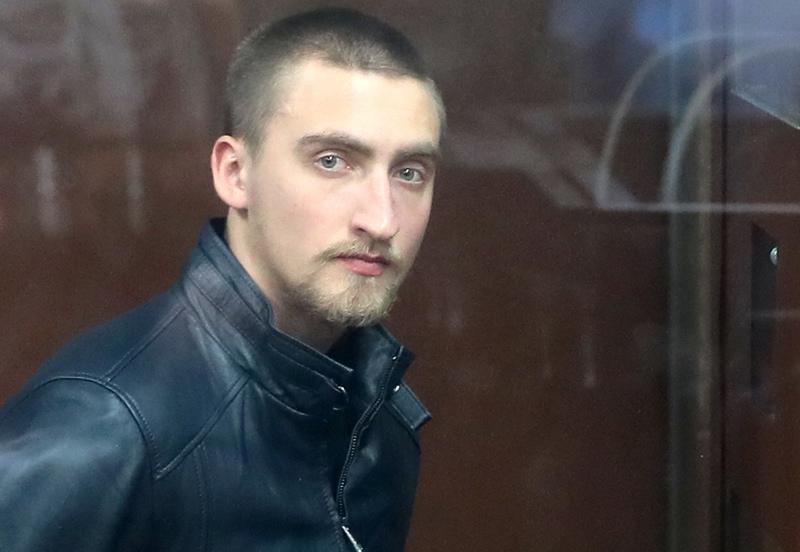 Павел Устинов, обвиняемый в нападении на бойца ОМОН