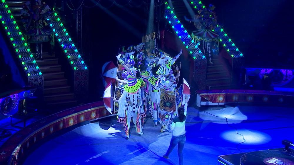 Репетиция выступления в цирке
