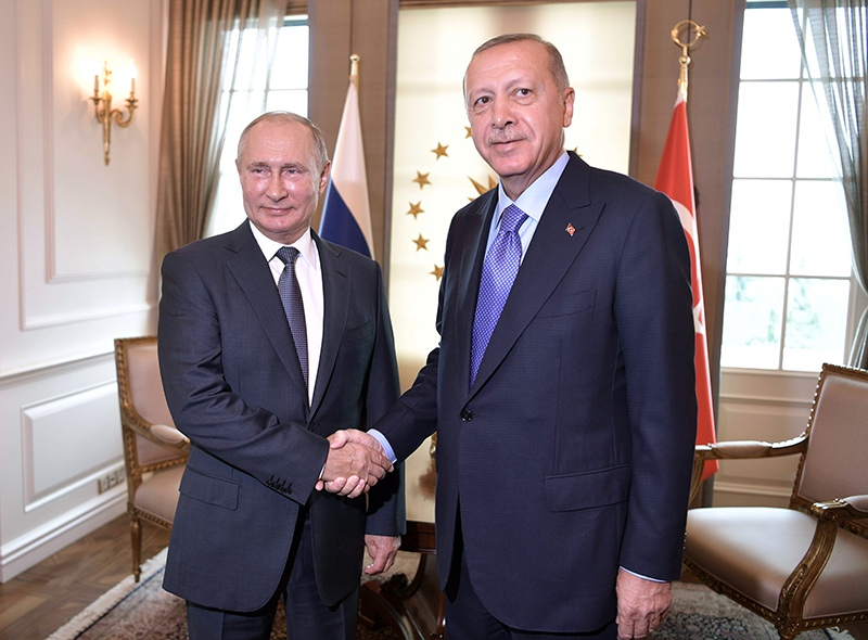 Владимир Путин и президент Турции Реджеп Тайип Эрдоган во время встречи