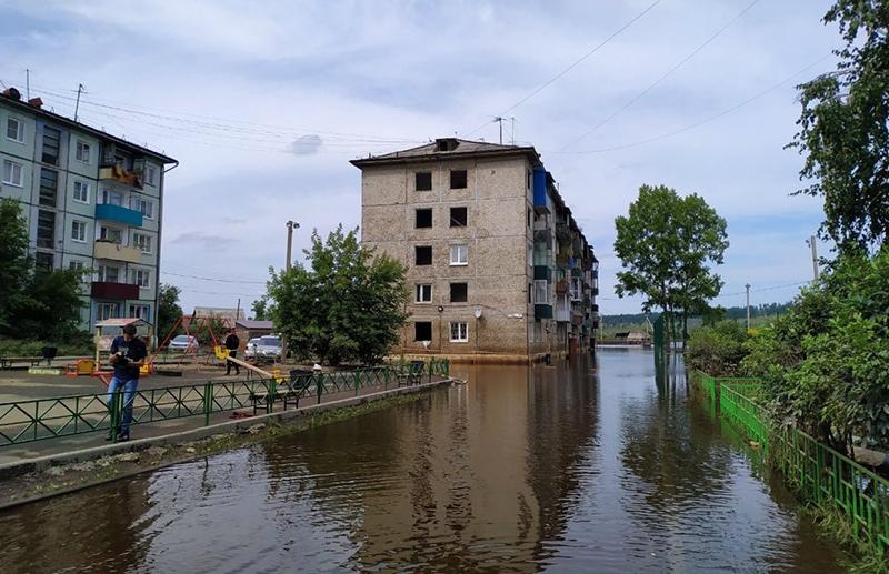 Паводок в городе Тулун