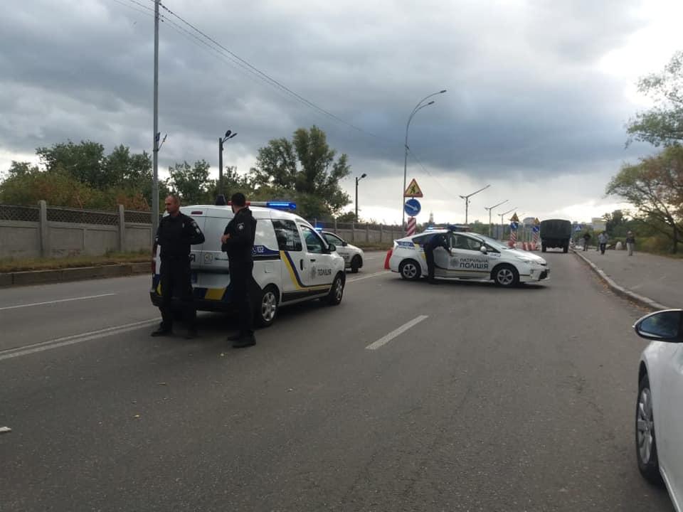 Полиция Киева на месте происшествия
