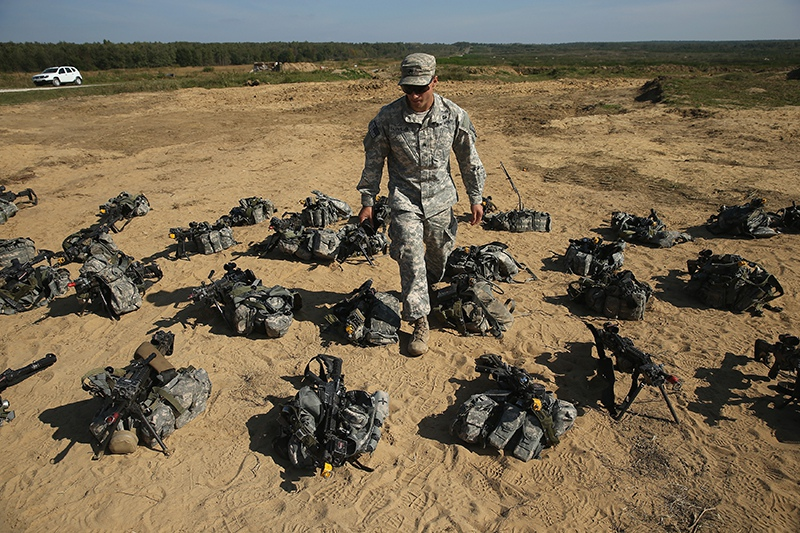 Инструктор армии США на Украине