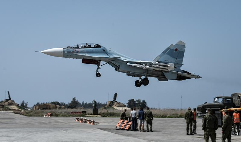 Истребитель Су-30СМ в Сирии