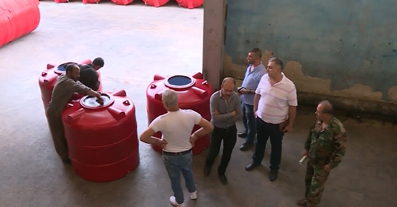 В Дамаске заработал завод по производству пластиковой мебели
