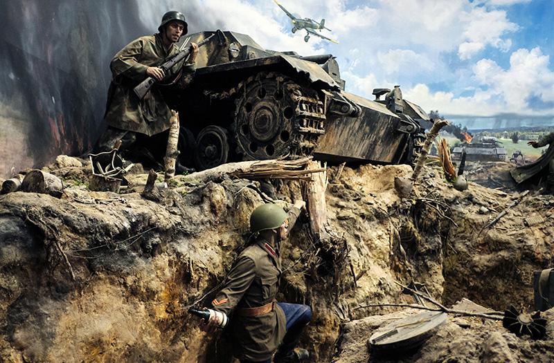 """Фрагмент трехмерной панорамы """"Память говорит. Дорога через войну"""""""