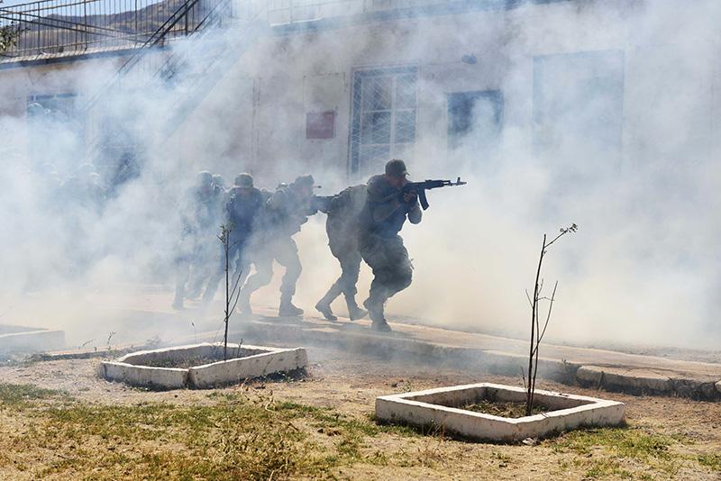 Солдаты 201-й российской военной базы в Таджикистане