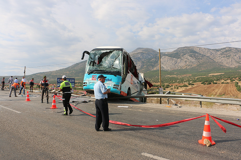 Происшествие с туристическим автобусом в Турции
