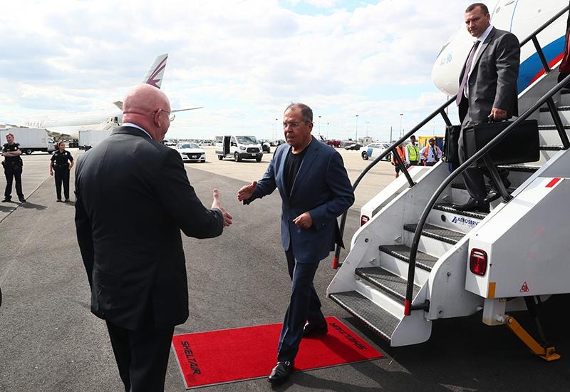 Визит главы МИД России Сергея Лаврова в Нью-Йорк
