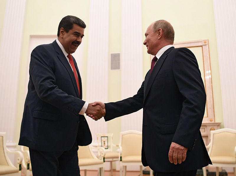 Владимир Путин и президент Венесуэлы Николас Мадуро
