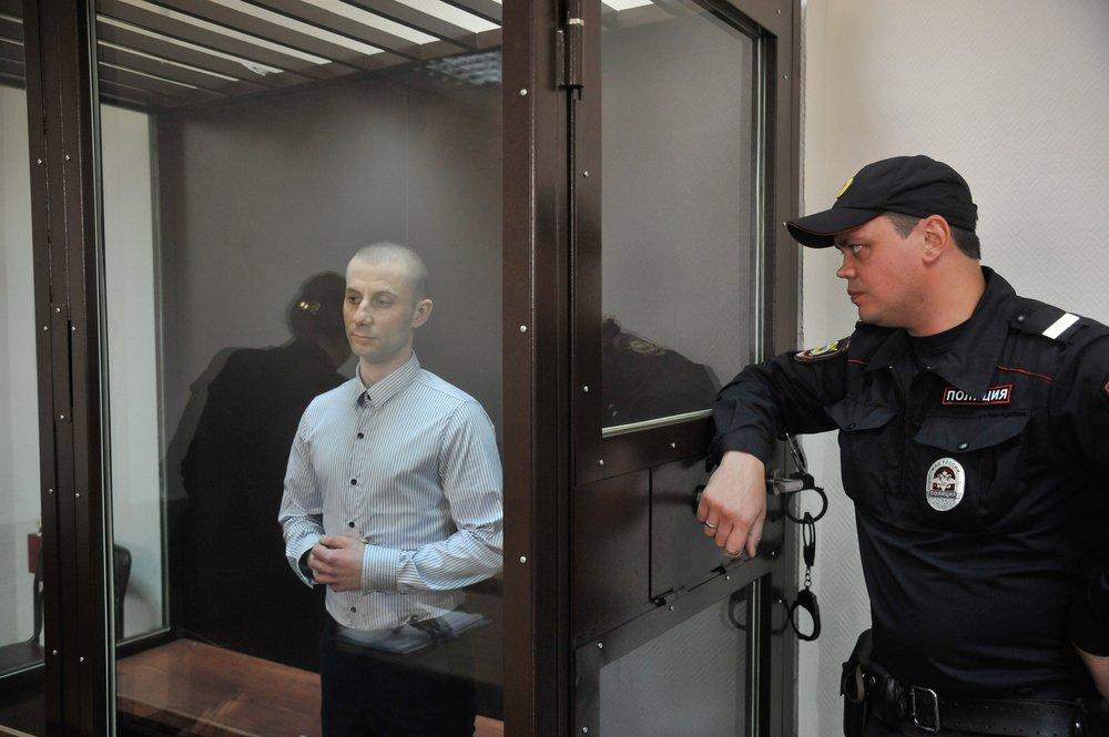Денис Чуприков в зале суда