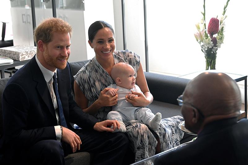 Меган Маркл и принц Гарри и сын Арчи