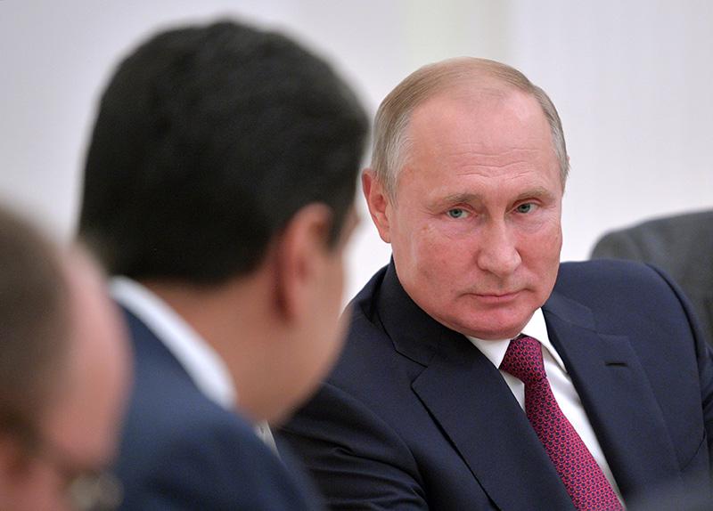 Владимир Путин и президент Венесуэлы Николас Мадуро во время встречи