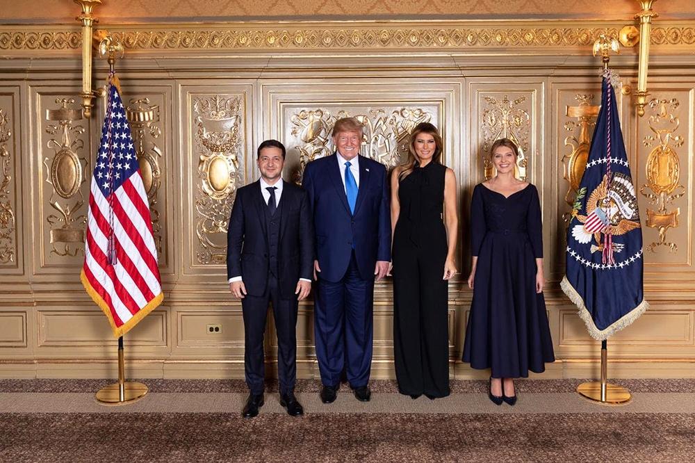 Владимир Зеленский, Дональд Трамп, Мелания Трамп и Елена Зеленская
