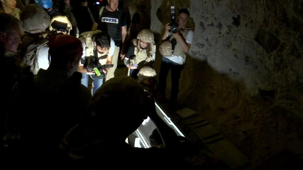 Пещера террористов в Сирии
