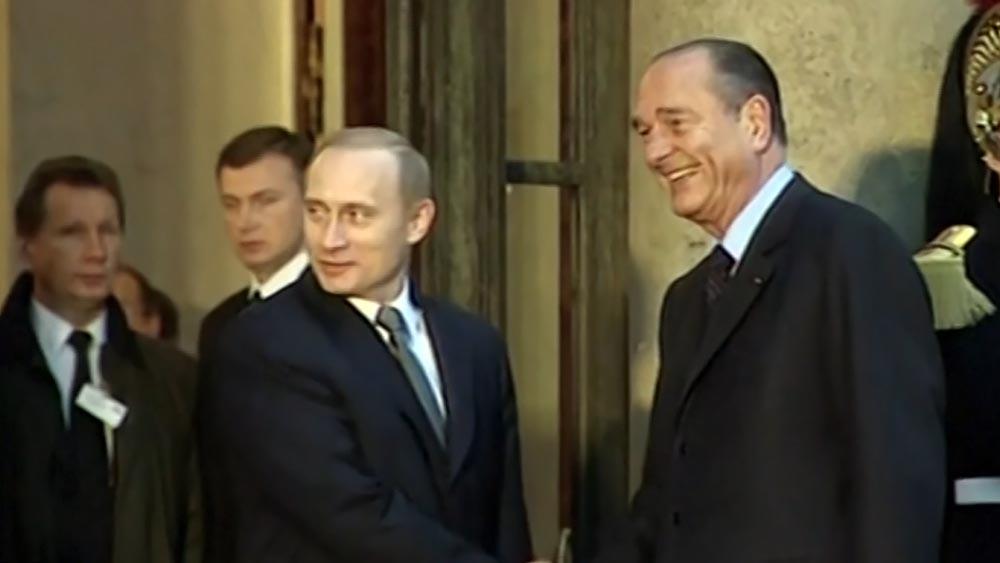 Владимир Путин и Жак Ширак