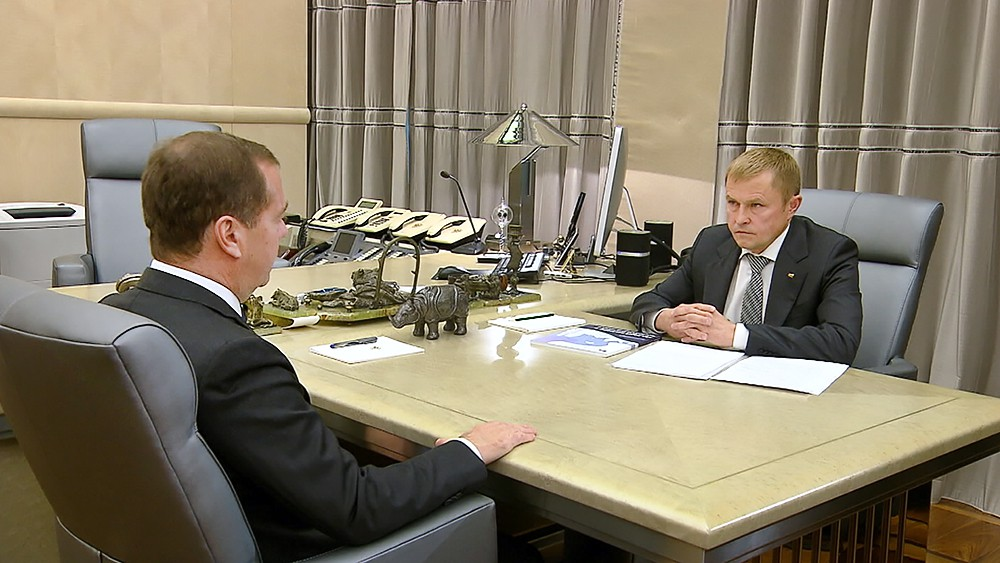 Дмитрий Медведев и Александр Калинин