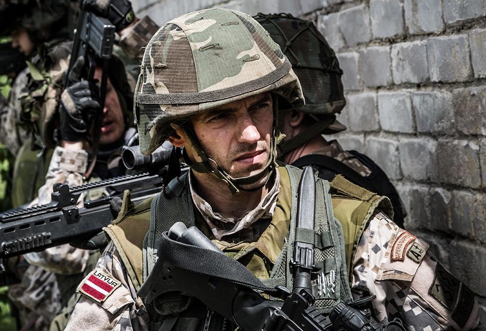Военнослужащие армии Латвии