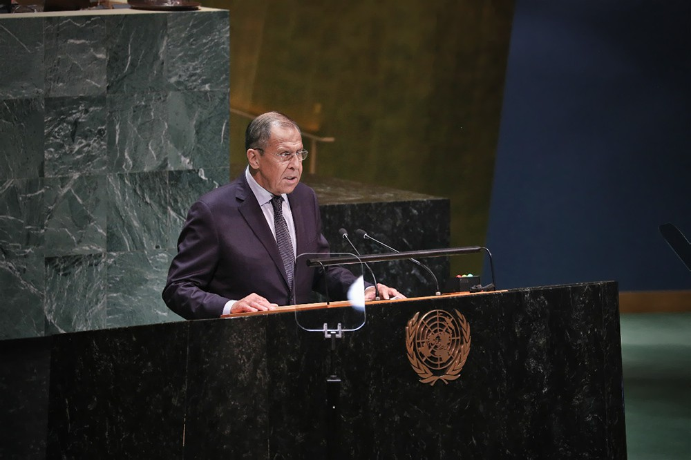 Сергей Лавров на Генассамблее ООН