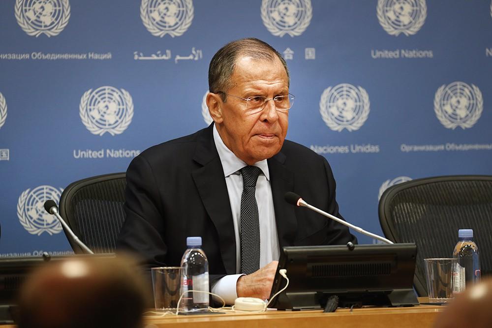Сергей Лавров в ООН