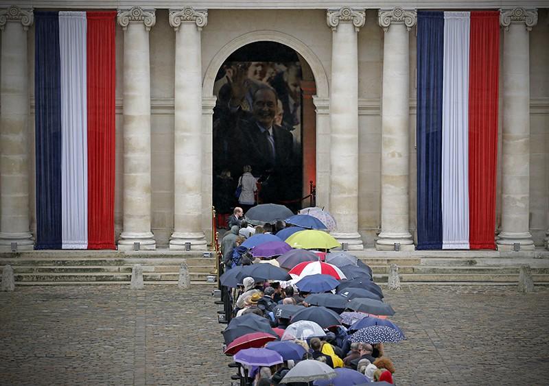 Церемония прощания Жаком Шираком