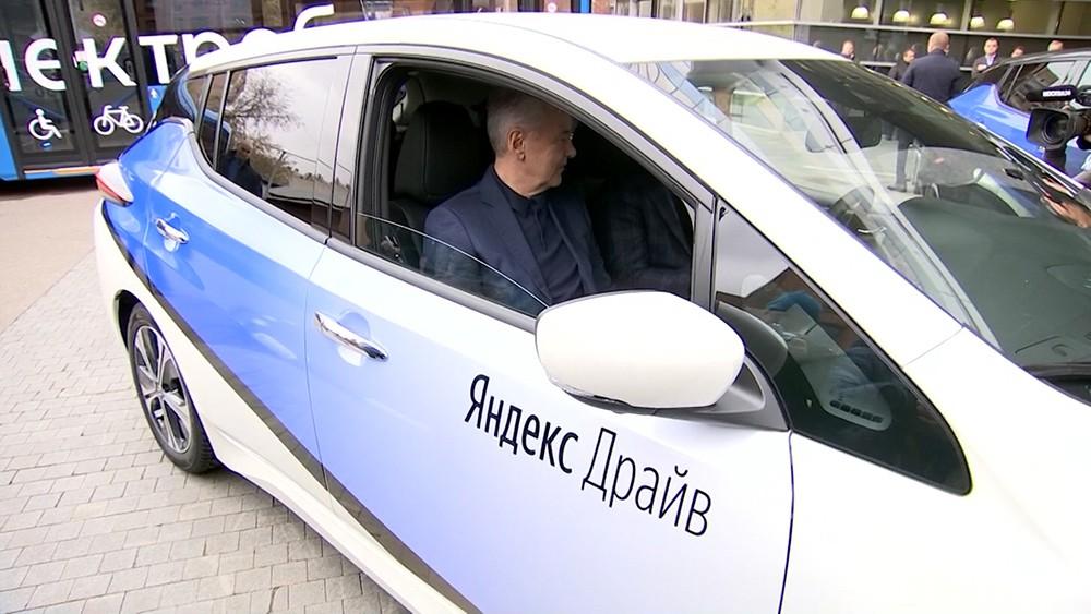 Сергей Собянин в машине