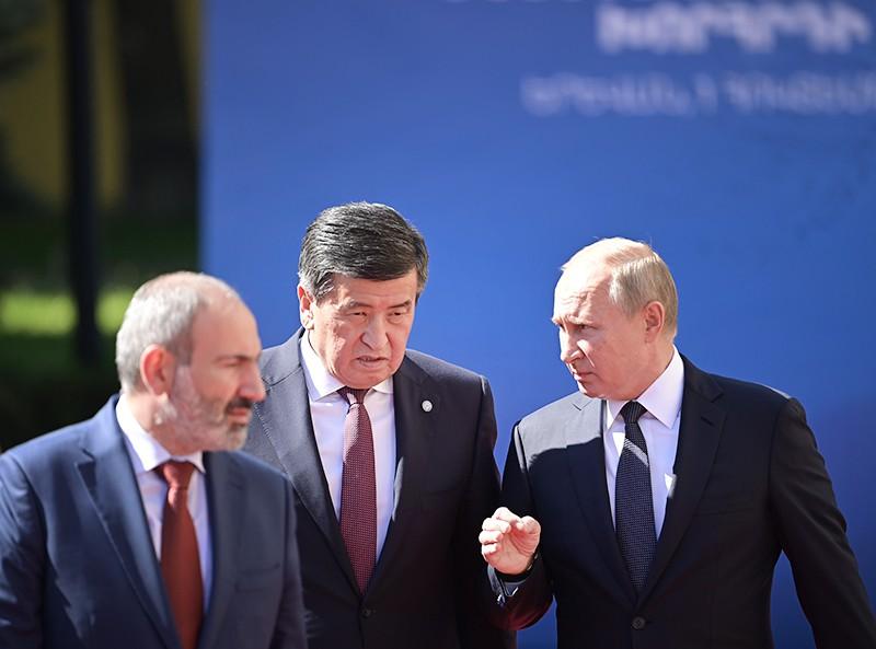 Владимир Путин, Никол Пашинян и Сооронбай Жээнбеков