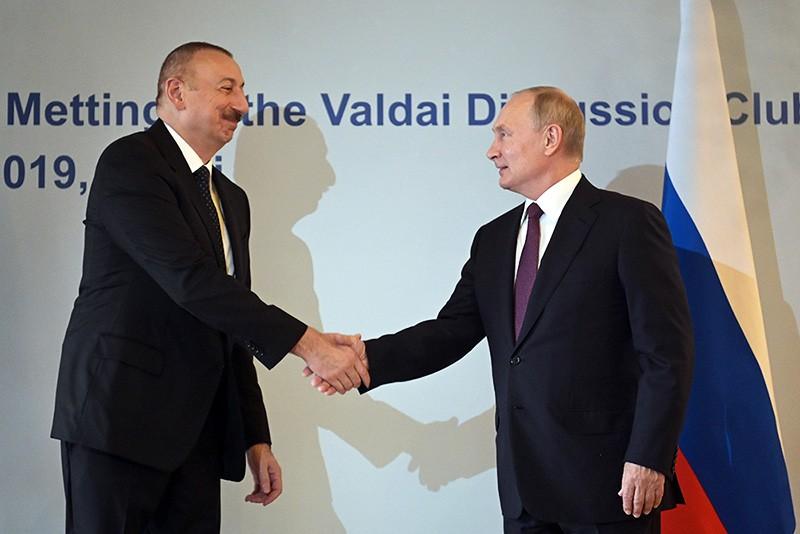 Президент  Владимир Путин и президент Азербайджана Ильхам Алиев