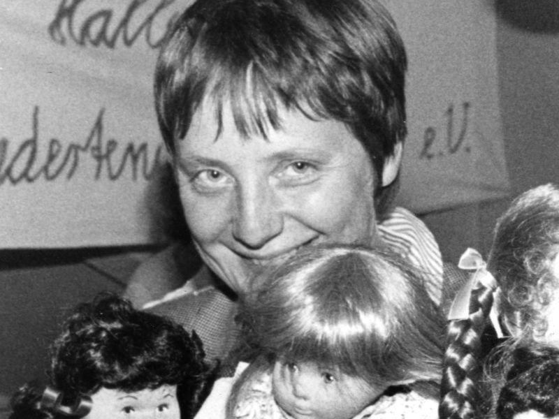 Ангела Меркель в молодости
