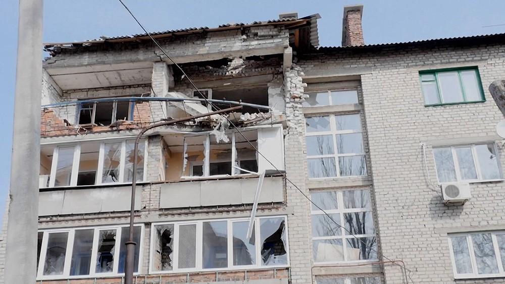Последствия обстрела на Украине