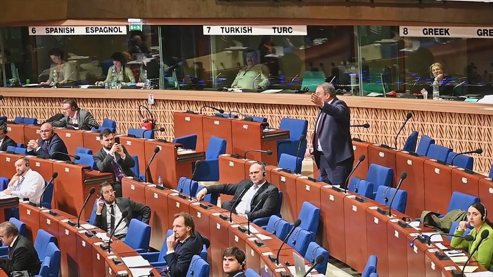 Выступление депутата Госдумы Петра Толстого на Парламентской ассамблее Совета Европы