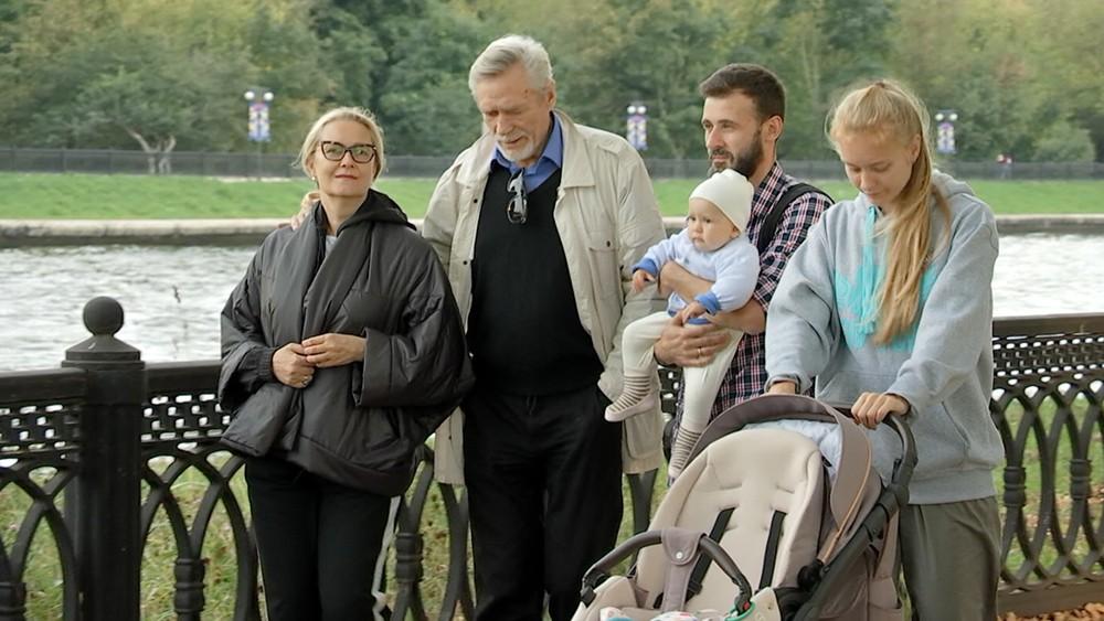 Александр Михайлов с семьей