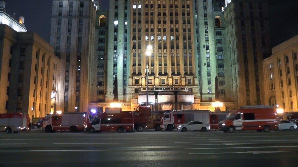 ЧП в здании МИД в Москве