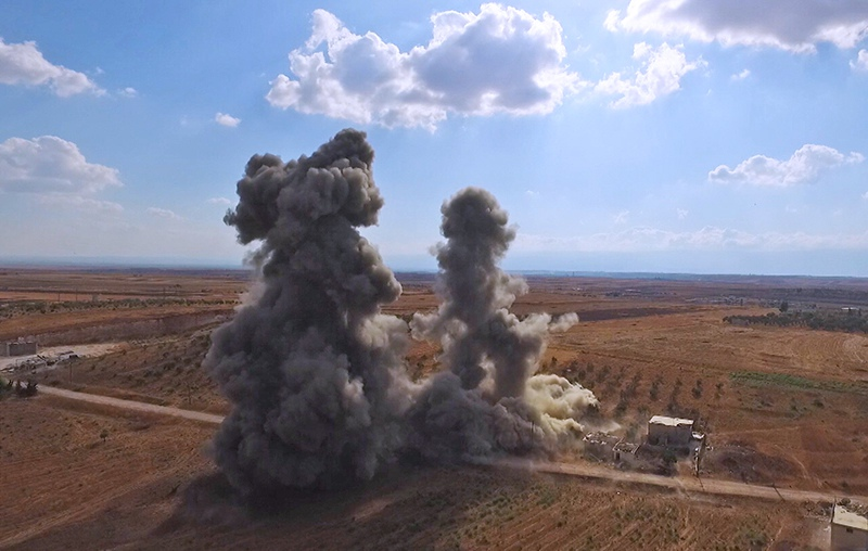 Взрыв схрона боеприпасов в Сирии