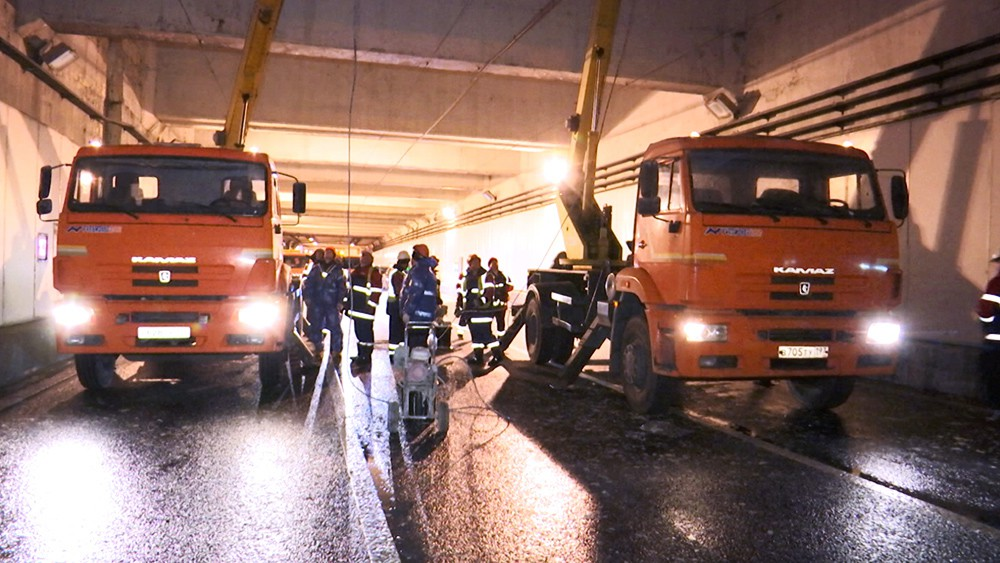 Ремонтные работы в тоннеле