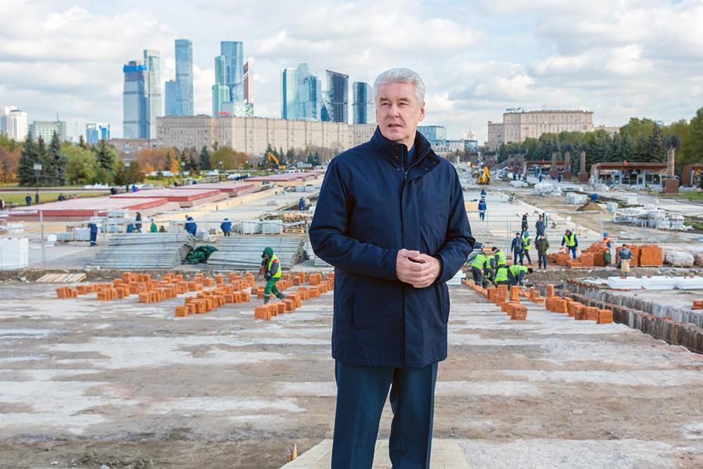 Сергей Собянин посетил парк Победы на Поклонной горе
