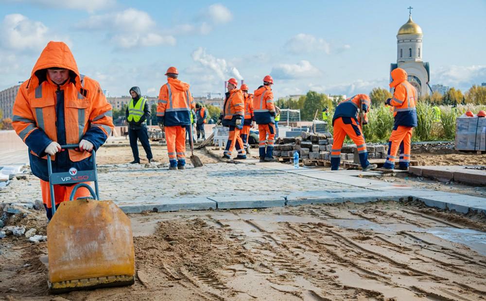 Ход работ в парке Победы на Поклонной горе