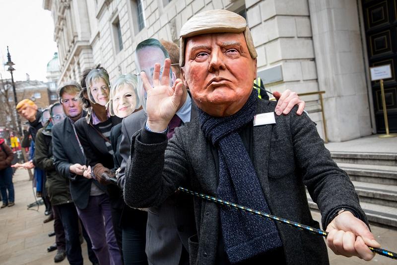 Акция протеста, посвященная торговой войне