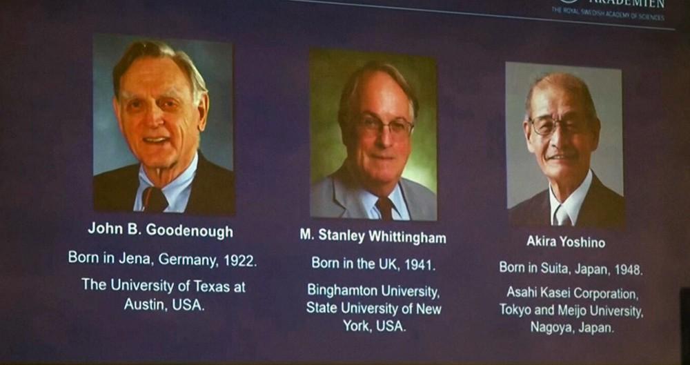 Ученые получили Нобелевскую премию по химии за разработку литий-ионных батарей