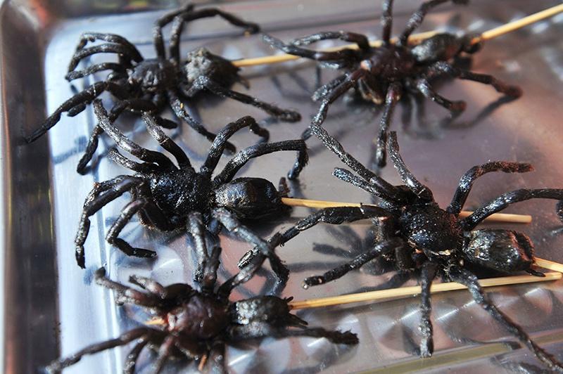 Жаренные пауки