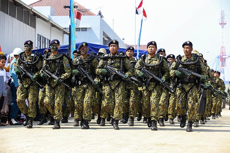 Военный парад в Индонезии