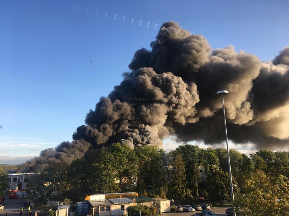 Взрыв на мусороперерабатывающем заводе в Австрии