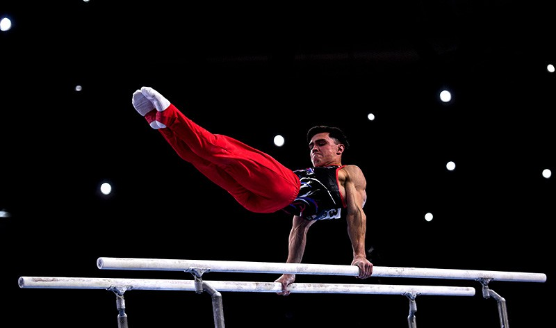 Гимнаст Артур Далалоян на чемпионате мира в Штутгарте