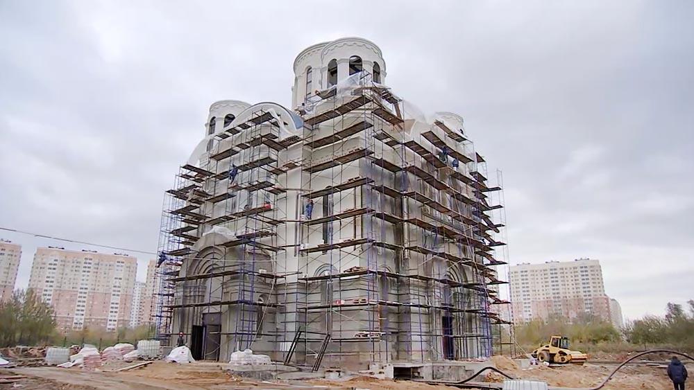 Строительство храма в честь Покрова Пресвятой Богородицы