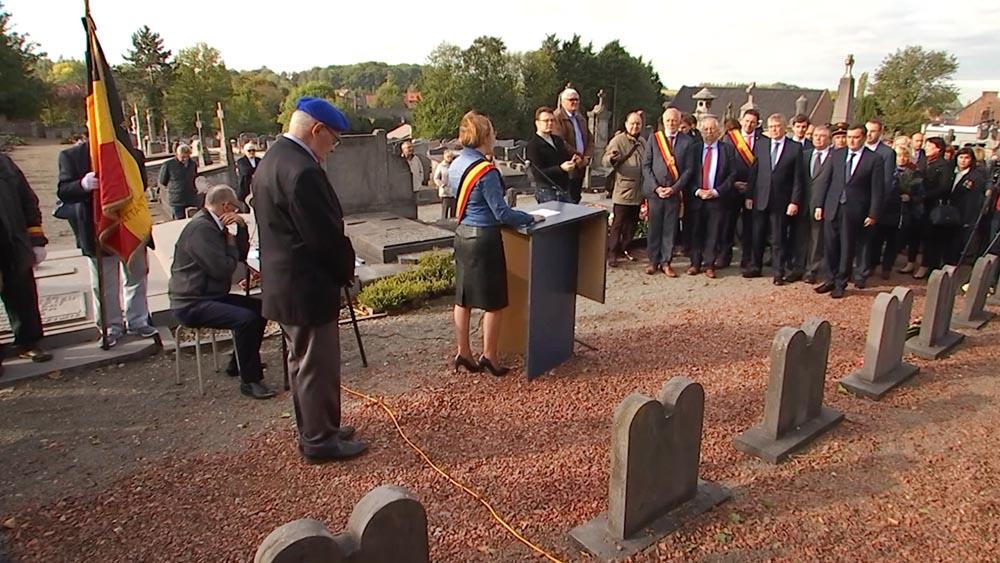 Открытия мемориала советским воинам-партизанам в Бельгии