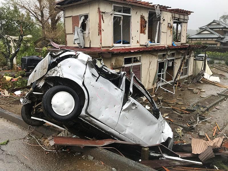 """Последствия урагана """"Хагибис"""" в Японии"""