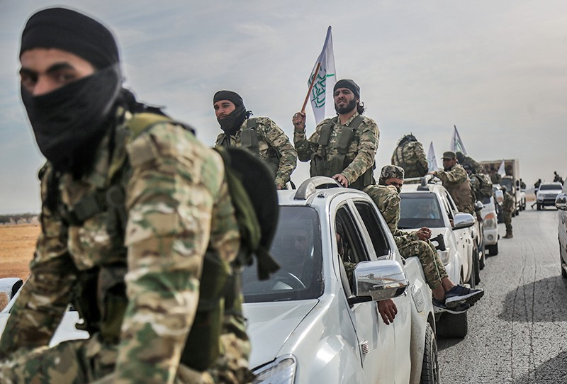 Военнослужащие армии Турции и сирийской национальной армии