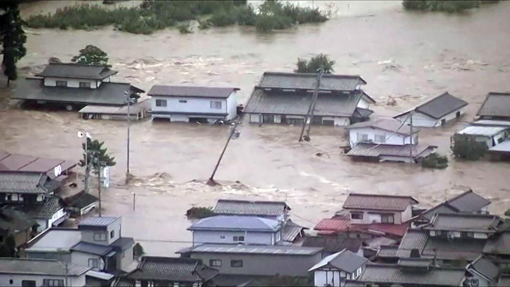 Последствия тайфуна в Японии